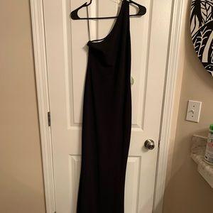 Long formal one shoulder dress